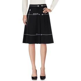 《期間限定セール開催中!》MOSCHINO レディース ひざ丈スカート ブラック 40 バージンウール 99% / 指定外繊維 1%