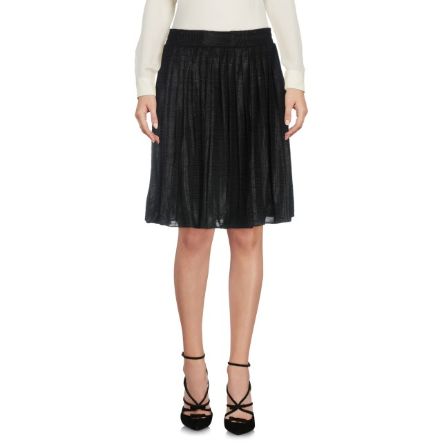 《期間限定セール開催中!》POP COPENHAGEN レディース ひざ丈スカート ブラック L 90% ポリエステル 10% ポリウレタン