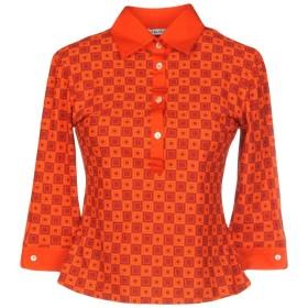 《セール開催中》CALIBAN レディース ポロシャツ レッド 40 ポリエステル 72% / ポリウレタン 28%