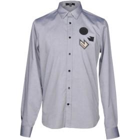 《期間限定 セール開催中》VERSUS VERSACE メンズ シャツ グレー 44 コットン 100%