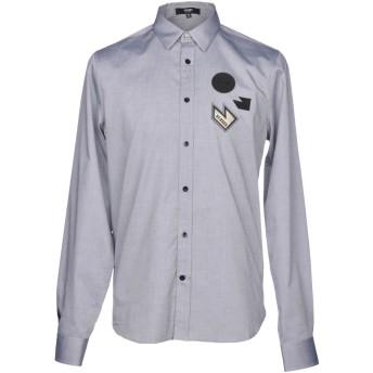 《期間限定セール開催中!》VERSUS VERSACE メンズ シャツ グレー 44 コットン 100%