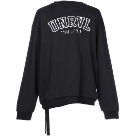 《期間限定セール開催中!》BEN TAVERNITI UNRAVEL PROJECT メンズ スウェットシャツ ブラック XS 100% コットン レーヨン ポリウレタン ポリエステル