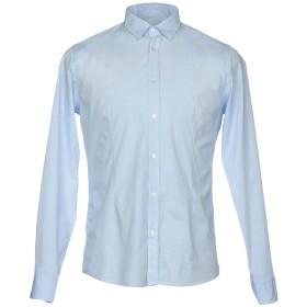 《期間限定セール開催中!》JOE BARRET Firenze メンズ シャツ スカイブルー S コットン 97% / ポリウレタン 3%