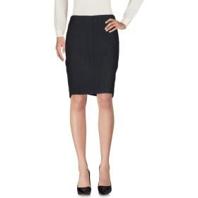 《期間限定 セール開催中》TERESA DAINELLI レディース ひざ丈スカート ブラック 27 バージンウール 48% / ポリエステル 47% / ポリウレタン 5%