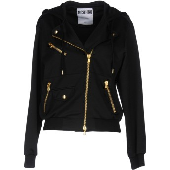 《期間限定セール開催中!》MOSCHINO レディース スウェットシャツ ブラック 36 ポリエステル 57% / コットン 43% / レーヨン / 指定外繊維