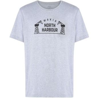 《期間限定セール開催中!》MAKIA メンズ T シャツ ライトグレー S コットン 100% NORTH HARBOUR T-SHIRT