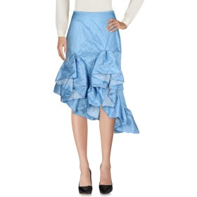 《セール開催中》MARQUES' ALMEIDA レディース 7分丈スカート スカイブルー 6 コットン 47% / ポリエステル 43% / ポリウレタン樹脂 10%