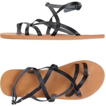 《期間限定セール開催中!》ROXY レディース トングサンダル ブラック 36 紡績繊維 RX Sandals Julia