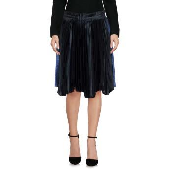 《9/20まで! 限定セール開催中》CEDRIC CHARLIER レディース ひざ丈スカート ディープジェード 40 アセテート 65% / レーヨン 35% / ポリエステル / シルク