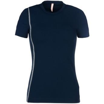 《期間限定セール開催中!》NO KA 'OI レディース T シャツ ダークブルー 1 ナイロン 59% / ポリウレタン 41% Nani t-shirt with embroidery smoke piping