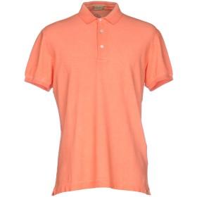 《期間限定セール開催中!》CAPOBIANCO メンズ ポロシャツ サーモンピンク S コットン 95% / ポリウレタン 5%