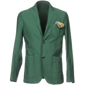 《期間限定 セール開催中》AT.P.CO メンズ テーラードジャケット グリーン 46 100% コットン