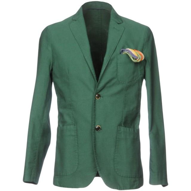 《期間限定セール開催中!》AT.P.CO メンズ テーラードジャケット グリーン 46 100% コットン
