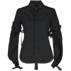《セール開催中》DSQUARED2 レディース シャツ ブラック 36 コットン 100%