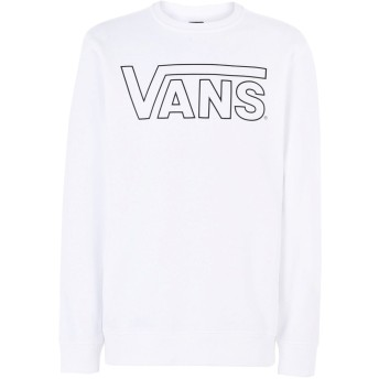 《セール開催中》VANS メンズ スウェットシャツ ホワイト XL コットン 100% VANS CLASSIC CREW