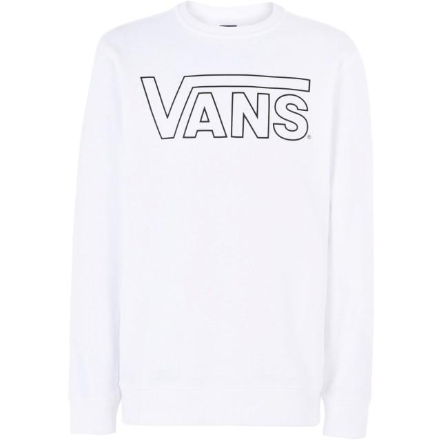 《期間限定 セール開催中》VANS メンズ スウェットシャツ ホワイト L コットン 100% VANS CLASSIC CREW
