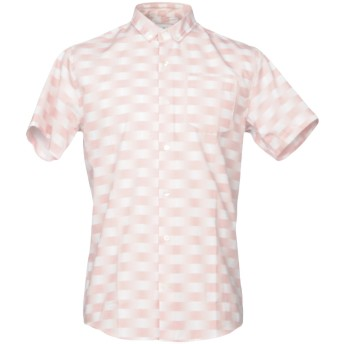 《セール開催中》ONTOUR メンズ シャツ ピンク M コットン 60% / ポリエステル 40%