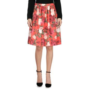 《セール開催中》BLUGIRL BLUMARINE レディース ひざ丈スカート レッド 36 ポリエステル 90% / ポリウレタン 10%