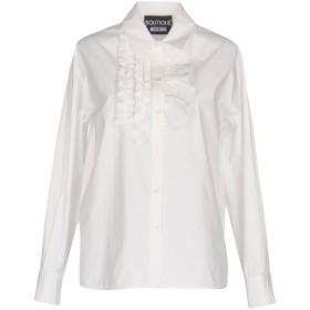 《期間限定 セール開催中》BOUTIQUE MOSCHINO レディース シャツ ホワイト 44 コットン 95% / 指定外繊維 5%