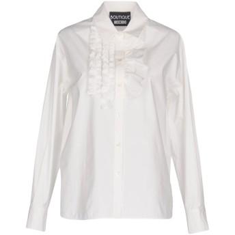 《セール開催中》BOUTIQUE MOSCHINO レディース シャツ ホワイト 46 コットン 95% / 指定外繊維 5%