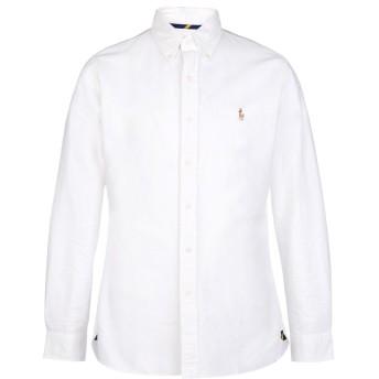 《期間限定 セール開催中》POLO RALPH LAUREN メンズ シャツ ホワイト L 100% コットン Slim Fit Cotton Oxford Shirt