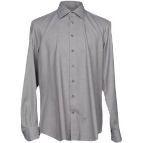 《期間限定セール開催中!》EMANUELE MAFFEIS メンズ シャツ グレー 43 コットン 100%