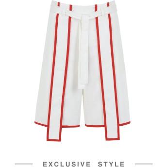 《セール開催中》JI WON CHOI x YOOX レディース バミューダパンツ ホワイト S コットン 100%