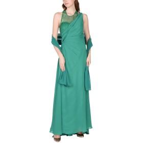 《セール開催中》PAOLA BL レディース ロングワンピース&ドレス グリーン 48 ポリエステル 100%