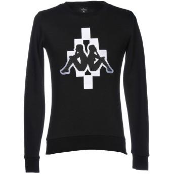 《セール開催中》MARCELO BURLON x KAPPA メンズ スウェットシャツ ブラック XXS コットン 80% / ポリエステル 20%