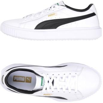 《セール開催中》PUMA メンズ スニーカー&テニスシューズ(ローカット) ホワイト 8 革 PUMA Breaker LTHR