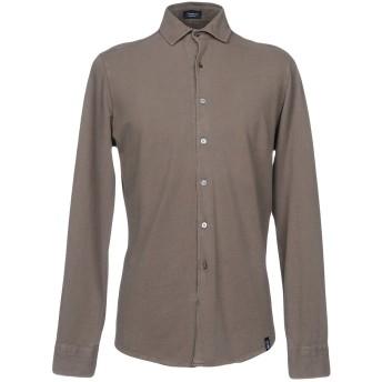 《セール開催中》DRUMOHR メンズ シャツ ライトブラウン S 100% コットン