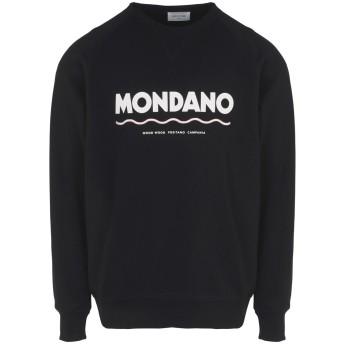《期間限定セール開催中!》WOOD WOOD メンズ スウェットシャツ ブラック S コットン 100% Hester sweatshirt Mens knitted sweatshirt