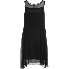 《セール開催中》PIANURASTUDIO レディース ミニワンピース&ドレス ブラック 42 ポリエステル 100%