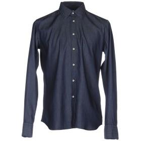 《セール開催中》BEVILACQUA メンズ デニムシャツ ブルー S 100% コットン