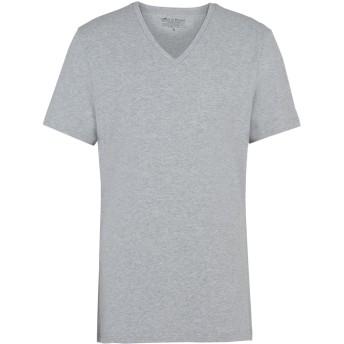《セール開催中》BREAD & BOXERS メンズ アンダーTシャツ ライトグレー S コットン 94% / ポリウレタン 6%