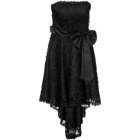 《セール開催中》EUFORIA ILLUSIONS & DREAMS レディース ミニワンピース&ドレス ブラック 42 ポリエステル 100%