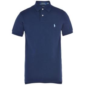 《期間限定セール開催中!》POLO RALPH LAUREN メンズ ポロシャツ ダークブルー S コットン 100% Slim Fit Basic Mesh Polo
