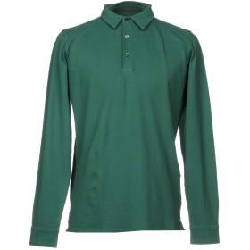 《期間限定セール開催中!》ALPHA STUDIO メンズ ポロシャツ グリーン 48 95% コットン 5% ポリウレタン