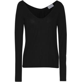 《期間限定セール開催中!》JOLIE by EDWARD SPIERS レディース T シャツ ブラック XL 指定外繊維(テンセル) 70% / ウール 30%
