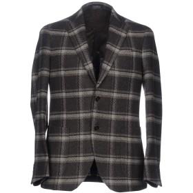《セール開催中》TOMBOLINI メンズ テーラードジャケット ダークブラウン 50 アクリル 50% / ポリエステル 25% / ウール 20% / 指定外繊維 5%