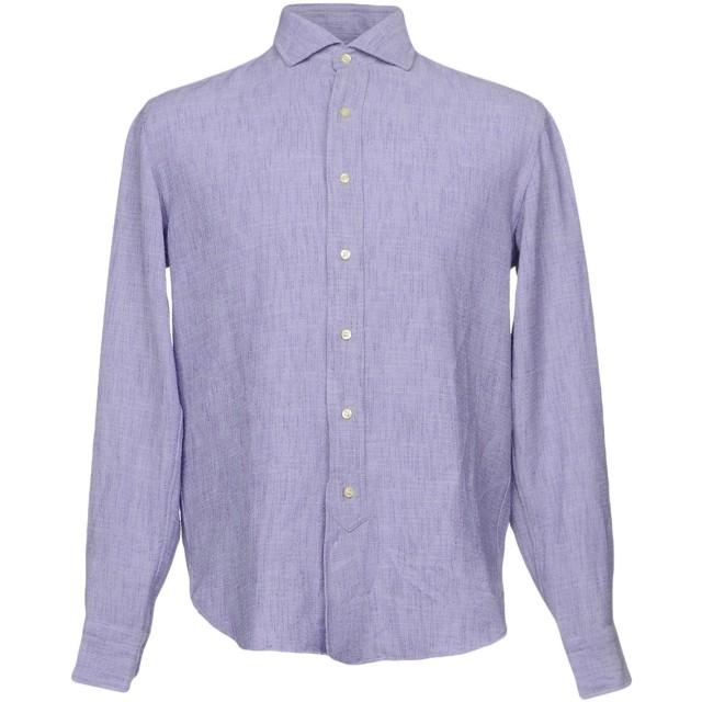 《期間限定セール開催中!》DOPPIAA メンズ シャツ ライラック 38 ポリエステル 100%