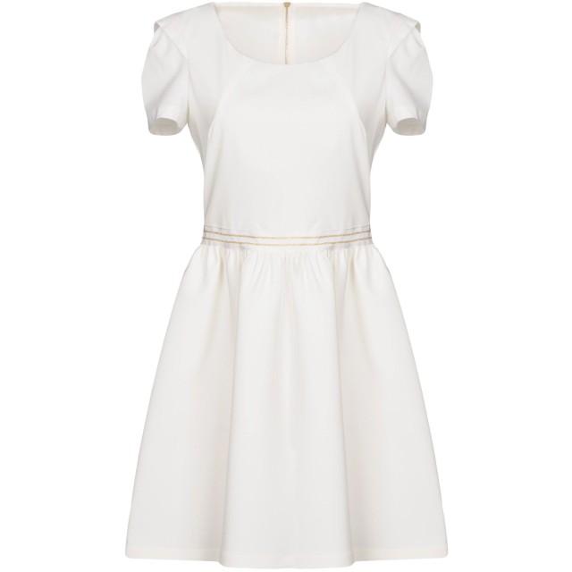 《セール開催中》PATRIZIA PEPE レディース ミニワンピース&ドレス ホワイト 44 88% ポリエステル 12% ポリウレタン