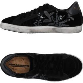 《セール開催中》PRIMABASE レディース スニーカー&テニスシューズ(ローカット) ブラック 36 紡績繊維 / 革