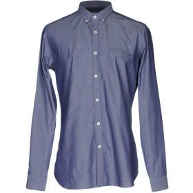 《期間限定セール開催中!》CALIBAN メンズ シャツ ダークブルー 42 100% コットン