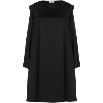 《セール開催中》DOIS レディース ミニワンピース&ドレス ブラック S ポリエステル 90% / ポリウレタン 10%