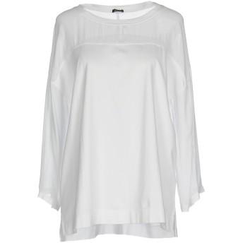 《9/20まで! 限定セール開催中》ASPESI レディース T シャツ ホワイト XS コットン 100% / レーヨン