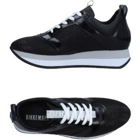 《セール開催中》BIKKEMBERGS レディース スニーカー&テニスシューズ(ローカット) ブラック 36 革 紡績繊維