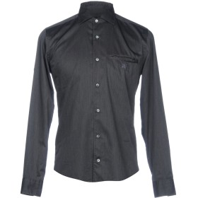 《セール開催中》CORNELIANI ID メンズ シャツ 鉛色 37 コットン 100%