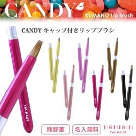 \カラフルでCuteな熊野筆リップブラシ☆この質でこの価格は革命的!/タウハウス 紅筆 リップブラシ リップブラシ CANDY熊野筆