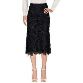 《期間限定 セール開催中》CHRISTOPHER KANE レディース 7分丈スカート ブラック 6 63% ポリエステル 37% ナイロン